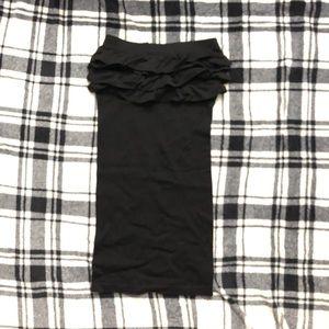 Ruffled Bodycon Bebe Tube Tub Dress